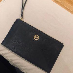 NWOT. Michael Kors black wristlet bag.